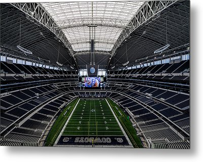 Dallas Cowboys Stadium End Zone Metal Print