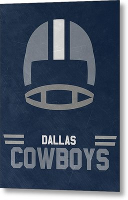 Dallas Cowboys Vintage Art Metal Print