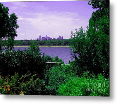 Metal Print featuring the photograph Dallas From The Park by Robert D McBain