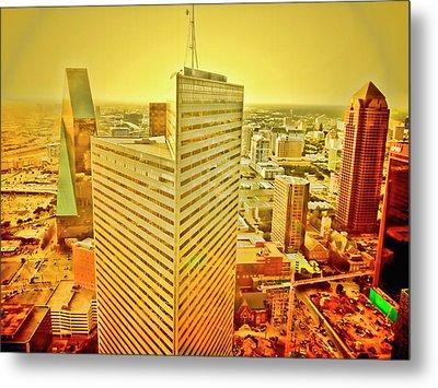 Dallas Gold Metal Print by Douglas Barnard