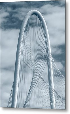 Dallas Hunt Hill Bridge With Clouds Metal Print by Tod and Cynthia Grubbs