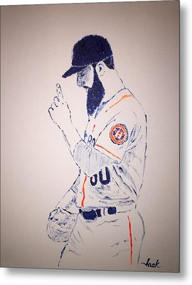 Dallas Keuchel Give Thanks Metal Print