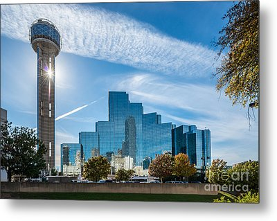 Dallas Reunion Tower  Metal Print by Tod and Cynthia Grubbs