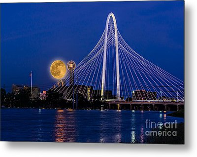 Dallas Strawberry Moon At Twilght Metal Print by Tamyra Ayles