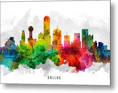 Dallas Texas Cityscape 12 Metal Print by Aged Pixel