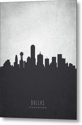 Dallas Texas Cityscape 19 Metal Print by Aged Pixel