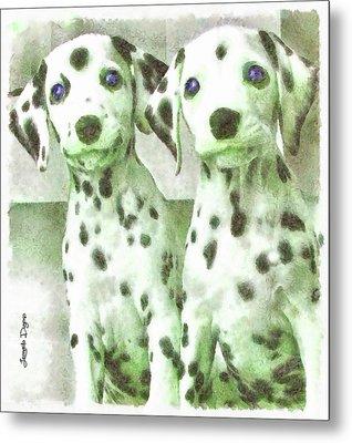 Dalmatian Brothers Metal Print