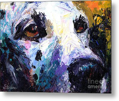 Dalmatian Dog Painting Metal Print by Svetlana Novikova