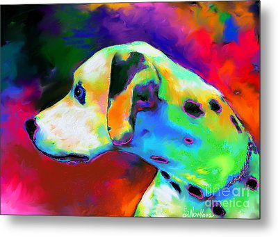 Dalmatian Dog Portrait Metal Print
