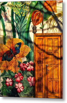 Metal Print featuring the photograph Damanhur Door by Paul Cutright