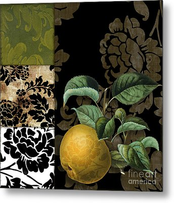 Damask Lerain Pear Metal Print by Mindy Sommers