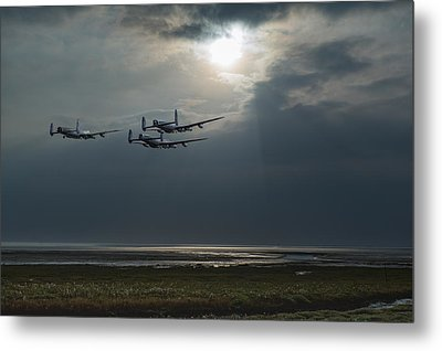 Dambusters Training Over The Wash Metal Print