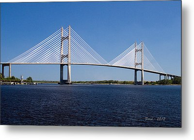 Dames Point Bridge Metal Print by Farol Tomson