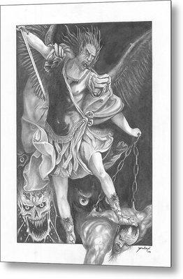 Damnation Of Evil Metal Print by Julian  B