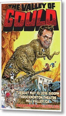 Dana Gould At The Throckmorton Theatre Metal Print by Mark Tavares