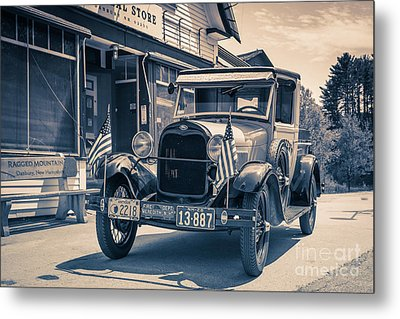 Danbury Country Store Ford Pickup Metal Print by Edward Fielding
