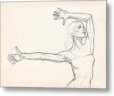 Dance Anatomy Metal Print by H James Hoff