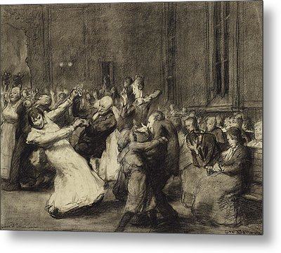 Dance At Insane Asylum Metal Print by George Wesley Bellows