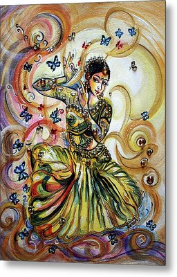 Dance And Butterflies Metal Print by Harsh Malik