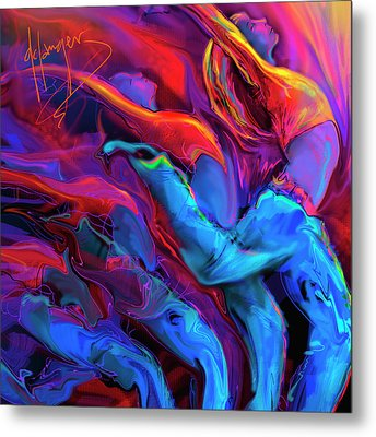 Metal Print featuring the painting Dance, Dance, Dance by DC Langer
