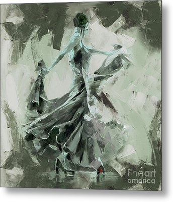 Metal Print featuring the painting Dance Flamenco Art  by Gull G