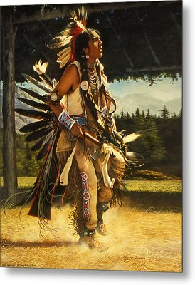 Metal Print featuring the painting Dance Of His Fathers by Greg Olsen