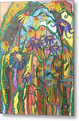 Metal Print featuring the painting Dance Of Life by Tanielle Childers