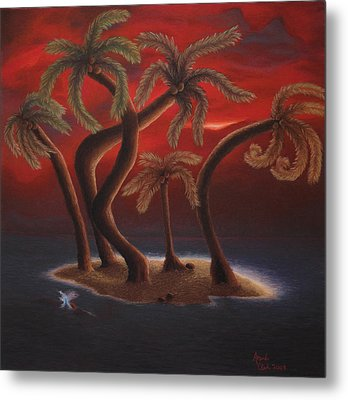 Dance Of The Coconut Palms Metal Print by Amanda Clark