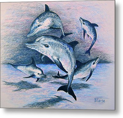 Dance Of The Deep Metal Print by Yvonne Blasy
