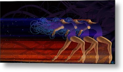 Dance Of The Moirai Metal Print by Kenneth Armand Johnson