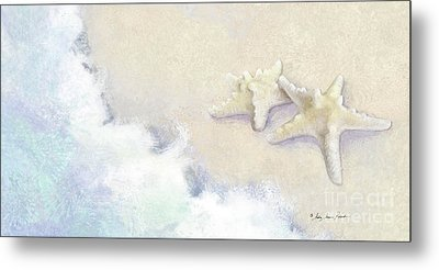 Metal Print featuring the painting Dance Of The Sea - Knobby Starfish Impressionstic by Audrey Jeanne Roberts