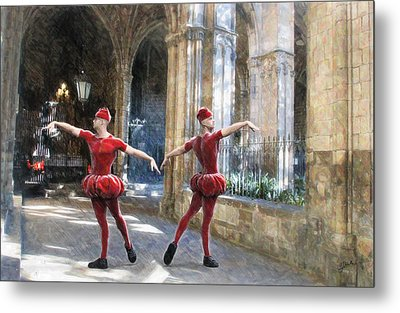 Dance Of The Swiss Guard Metal Print by Joaquin Abella