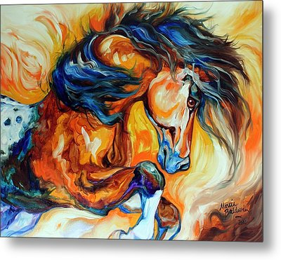 Dance Of The Wild One Metal Print by Marcia Baldwin