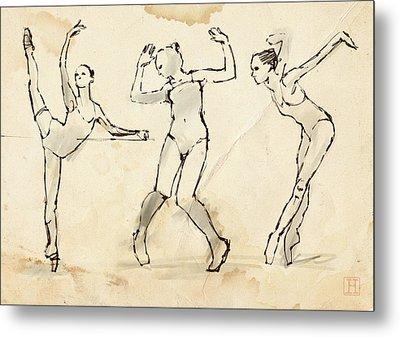 Dance Studies Metal Print by H James Hoff