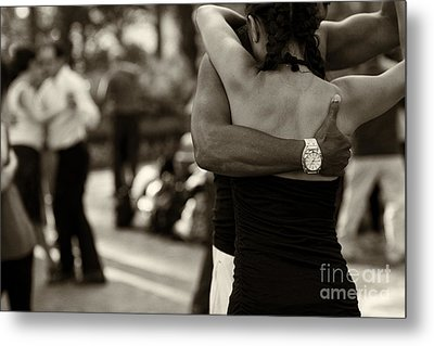Dance With Me Metal Print by Leslie Leda