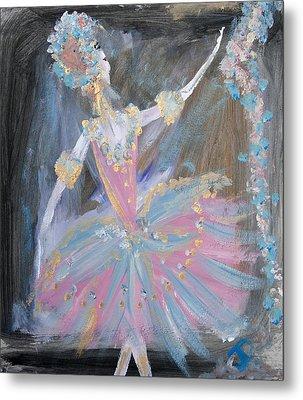 Dancer In Pink Tutu Metal Print