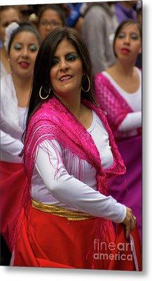 Dancer In The Pase Del Nino Parade II Metal Print