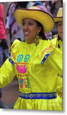 Dancer In The Pase Del Nino Parade Iv Metal Print