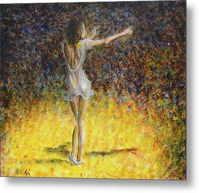 Dancer Spotlight Metal Print by Nik Helbig
