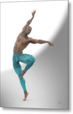 Dancer With Blue Leotard Metal Print by Joaquin Abella