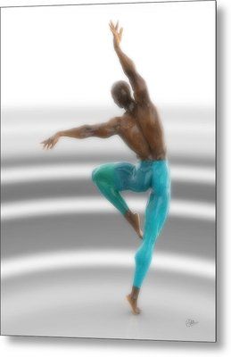 Dancer With Blue Leotards Metal Print by Joaquin Abella