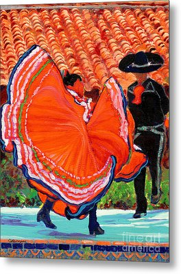 Dancers In Old Town San Diego California Metal Print by RD Riccoboni