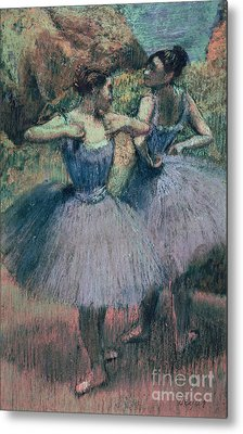 Dancers In Violet  Metal Print by Edgar Degas