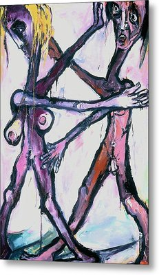 Metal Print featuring the painting Dancers by Kenneth Agnello