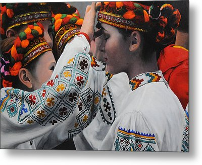 Dancers Preparing Metal Print
