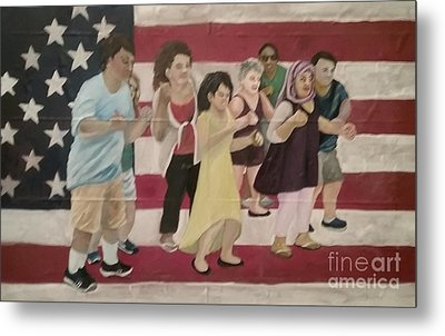 Dancing Americans Metal Print by Saundra Johnson