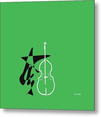 Dancing Bass In Green Metal Print by David Bridburg