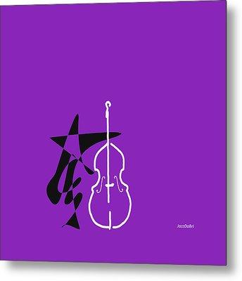 Dancing Bass In Purple Metal Print by David Bridburg