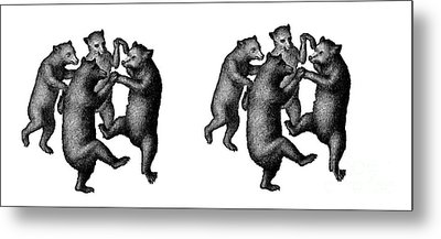 Dancing Bears Mug Metal Print by Edward Fielding