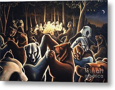 Dancing Bears Painting Metal Print by Kim Hunter